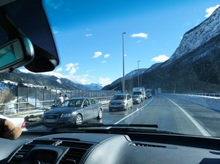 hinter dem Karawankentunnel aus Richtung Österreich