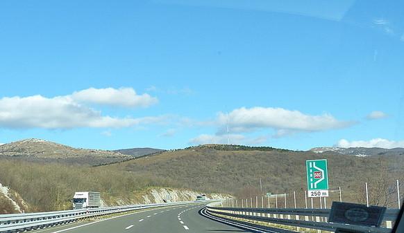 Richtung Inland
