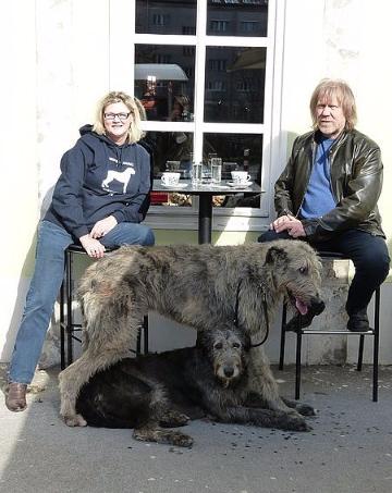 Im Cafe mit Hubert und Kiki