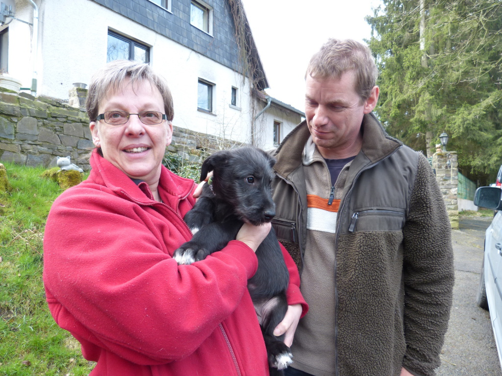 Kasper vom Alpetal mit seinen neuen Besitzern