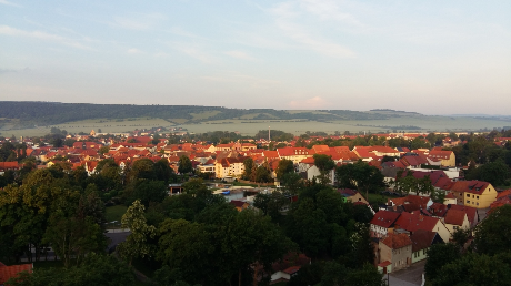 Bad Frankenhausen morgens aus dem Hotelfenster