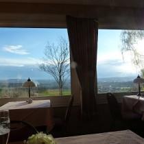 Blick auf Bayreuth aus dem Restaurant